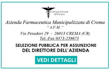 Farmacie Comunali Crema - selezione pubblica per assunzione del direttore dell'azienda
